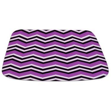 Zigzag 2a Purple Bathmat