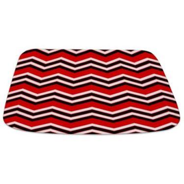 Zigzag 2a Red Bathmat