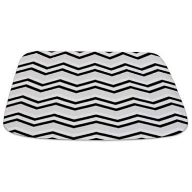 Zigzag 2a Silver Bathmat