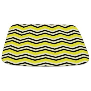 Zigzag 2a Yellow Bathmat