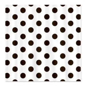 Chocolate Brown Polka Dot Shower Curtain